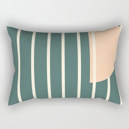 Moon between bars Rectangular Pillow