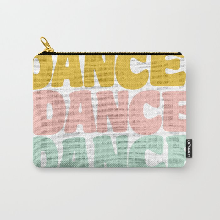Dance in Candy Pastel Lettering Carry-All Pouch