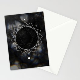 Sun Delay Geometry Stationery Cards