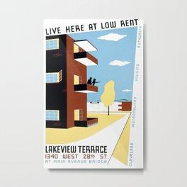 Vintage poster -  Cleveland Metal Print