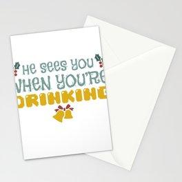 Christmas Party Alcohol Mistletoe Gift Stationery Cards