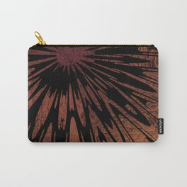Native Tapestry in Burnt Umber Carry-All Pouch