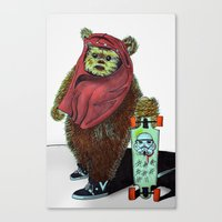 ewok Canvas Prints featuring Ewok Carioca by Andriolo
