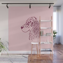 English Setter (Pink and Plum) Wall Mural