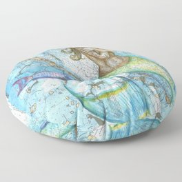 Key Largo Mermaid Floor Pillow