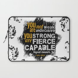 You are Not Weak: The Wrath and the Dawn (Floral White) Laptop Sleeve