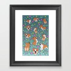 Corgis Framed Art Print
