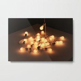 String Lights Metal Print