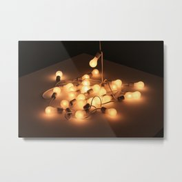 String Lights Metal Print