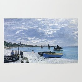 Claude Monet : Regatta at Sainte-Adresse / The Beach at Sainte Adresse Rug
