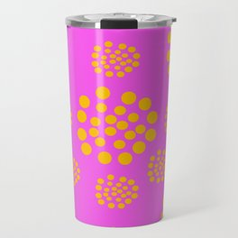 Fuchsia Orange Geometric Abstract Travel Mug