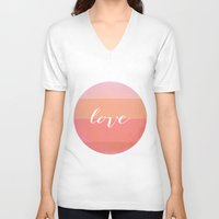 fruits V-neck T-shirts featuring Red Fruits by Menina Lisboa