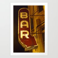 bar Art Prints featuring Bar by Joseph Skompski