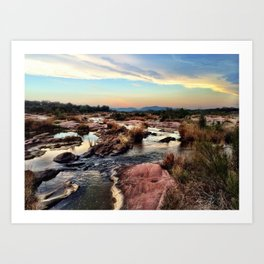 Psychedelic Sunset on the Llano (no border) Art Print