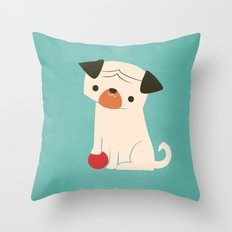 My Red Ball Throw Pillow
