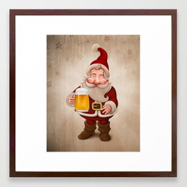 Santa Claus Beer Framed Art Print