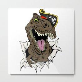 T-Rex - Imma Pirate Metal Print