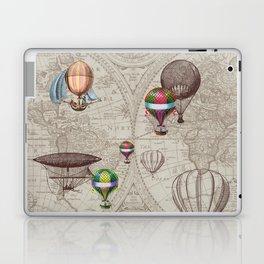 Balloon Festival Brown Laptop & iPad Skin