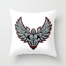 Symbol for gym and fitness Throw Pillow