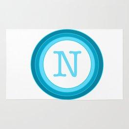 Blue letter N Rug