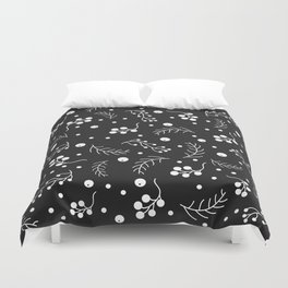 Small Berries and Spruce Twigs Duvet Cover