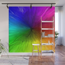 Rainbow Vortex Wall Mural