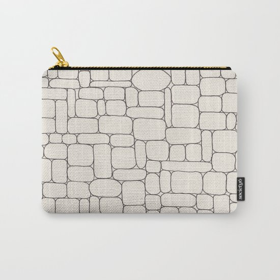 Stone Wall Drawing #3 Carry-All Pouch