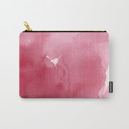 Abstract Rose Pink Watercolor Print Carry-All Pouch