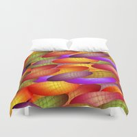 balloons Duvet Covers featuring Balloons by dominiquelandau