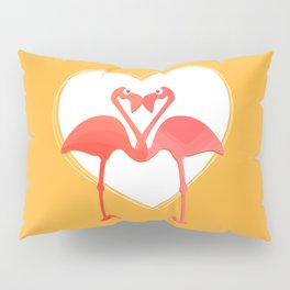 lovebirds - flamingos in love Pillow Sham