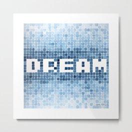 Dream watercolor mosaic typography Metal Print
