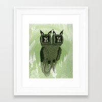 owls Framed Art Prints featuring Owls by Amanda James