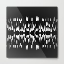 Black and White SOUTHWEST inspired Pattern Metal Print
