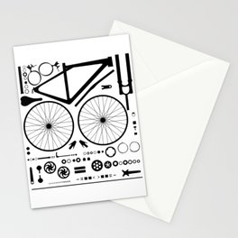 Bike Parts Exploded Stationery Cards