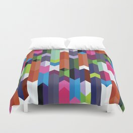 Colorful Chevron Pattern Duvet Cover