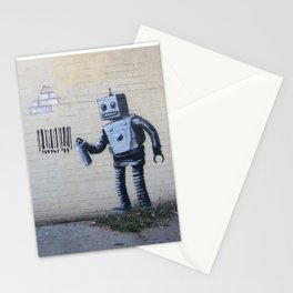 Banksy Robot (Coney Island, NYC) Stationery Cards