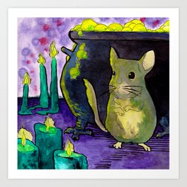 Candles and Chinchillas  Art Print