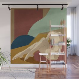 Abstract Female Figure 3 Wall Mural