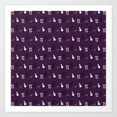 Alice Maddness Pattern Art Print