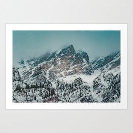 Jagged peaks in Banff National Park Art Print