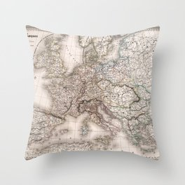 First French Empire in 1812 Throw Pillow