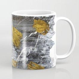 Gold Leaf on Marble Coffee Mug