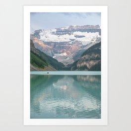 Lake Louise Canoes Art Print