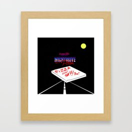 Nightdrive with Pizza Framed Art Print