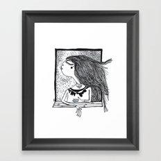 at the window 014 Framed Art Print