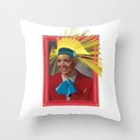 megan lara Throw Pillows featuring Lara by Robert Cooper