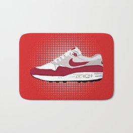 Red Air Shoes Bath Mat