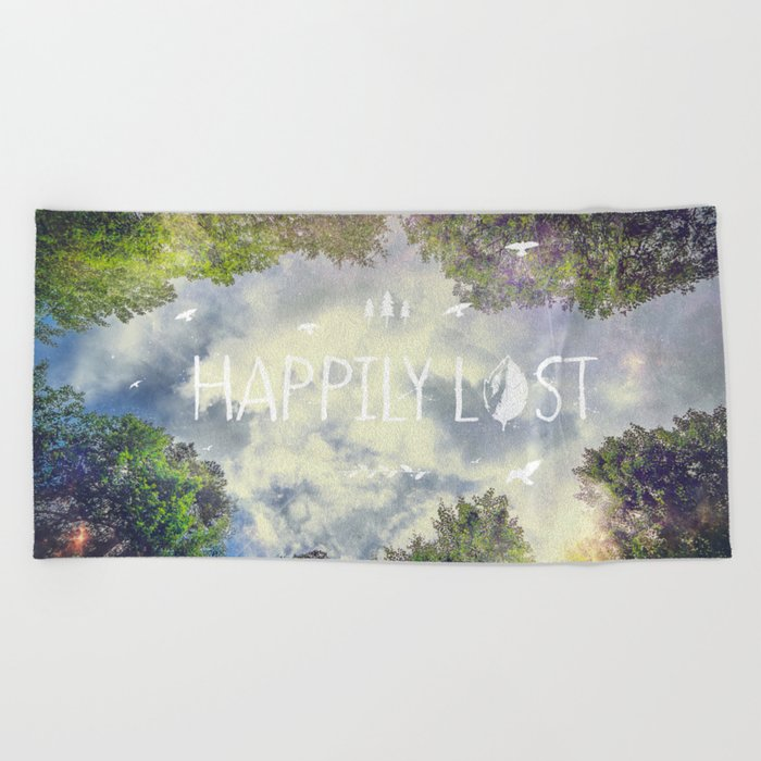 Happily Lost II Beach Towel