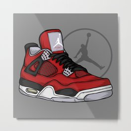 Jordan 4 (Toro Bravo) Metal Print