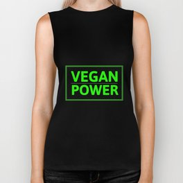 Vegan Power | animal welfare gift idea Biker Tank